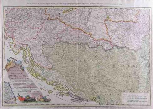 SCHÜTZ, CARL: MAP OF BOSNIA, SERBIA, CROATIA AND SLAVONIA