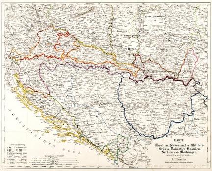 Karte Montenegro Kroatien.Flemming Carl Karte Von Kroatien Bosnien Serbien Und