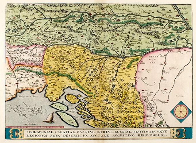 Karta Slavonije Hrvatske Kranjske Istre I Bosne